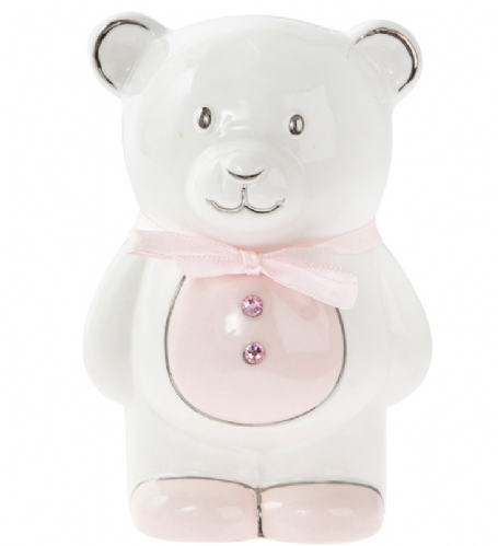 Teddy Money Bank Pink